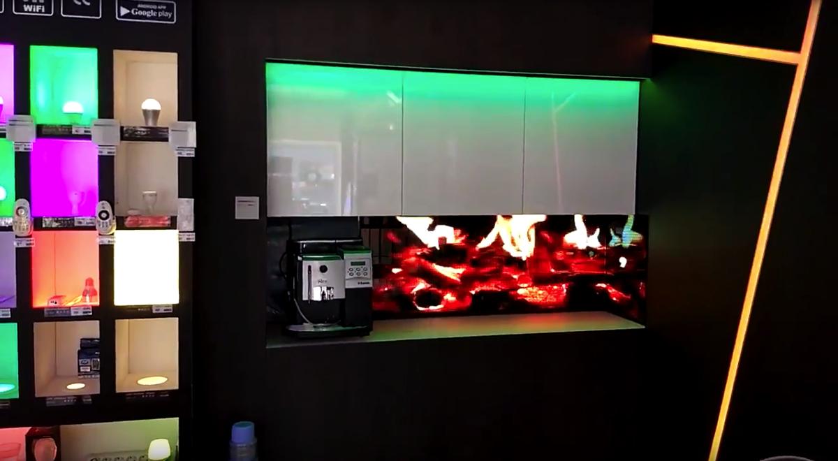 - P3 LED Kitchen Backsplashes. Prices From - LED Kitchen